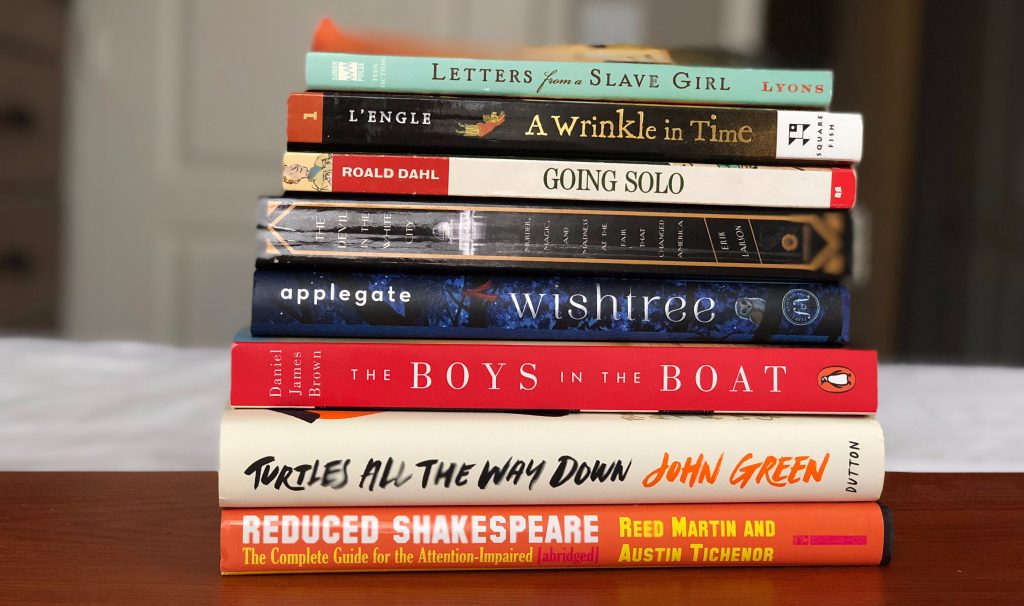 A pile of books I read in 2017