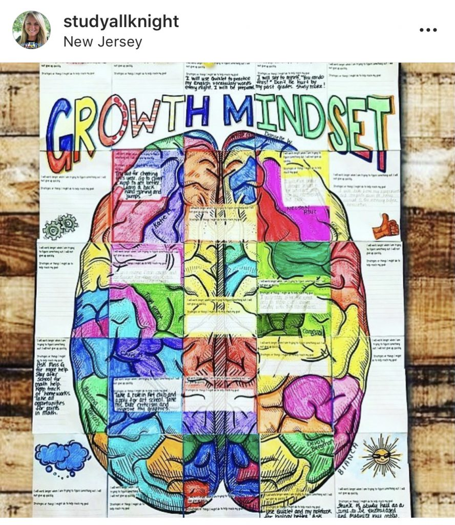 Growth mindset coloring activity