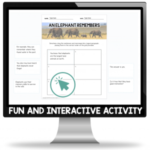 Free scrambled paragraph activity for Google Slides