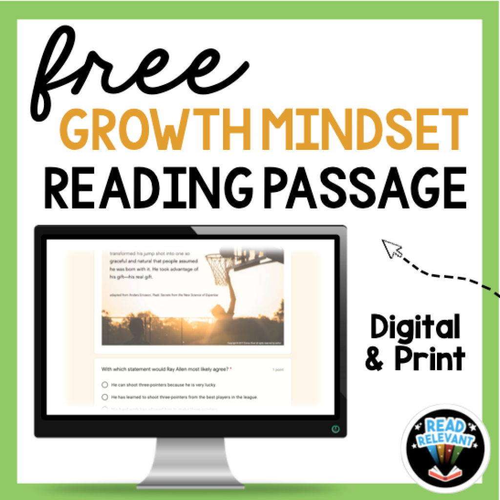 free digital resource growth mindset activity