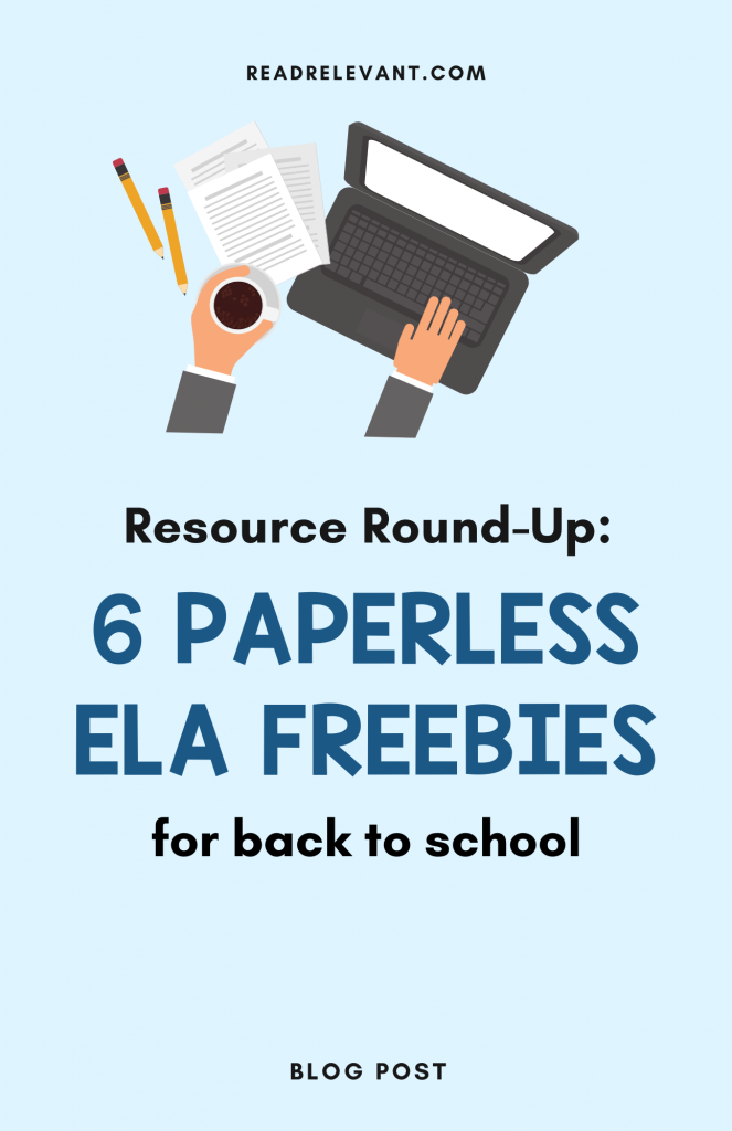 Free Digital ELA Back to School