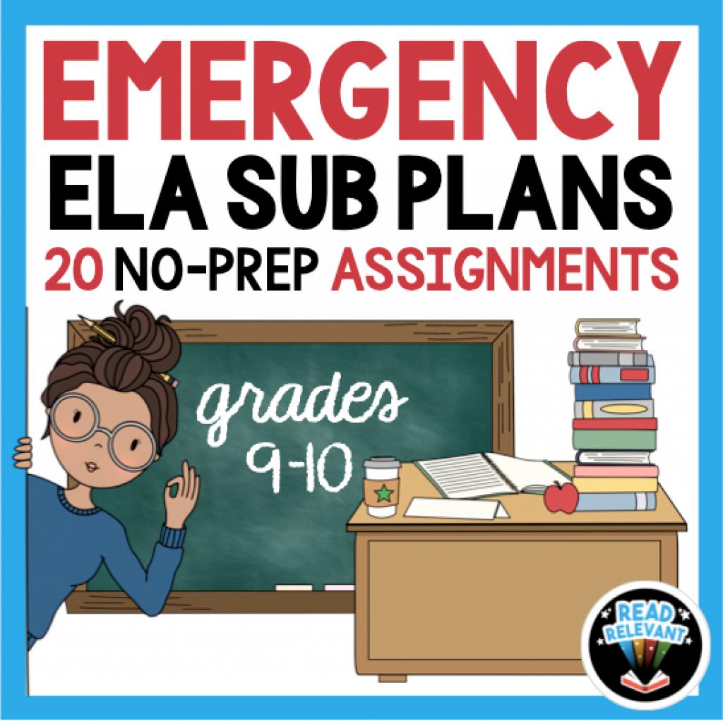 9th Grade sub plans 10th grade sub plans