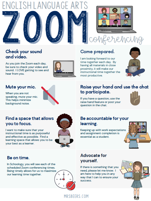 Google Meet/Zoom Expectations free resource