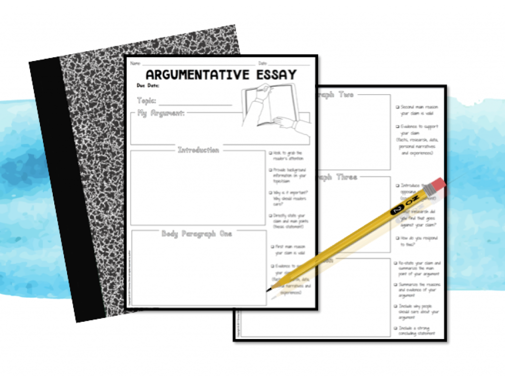 Free ELA downloads: Free argumentative essay 5 paragraph graphic organizer