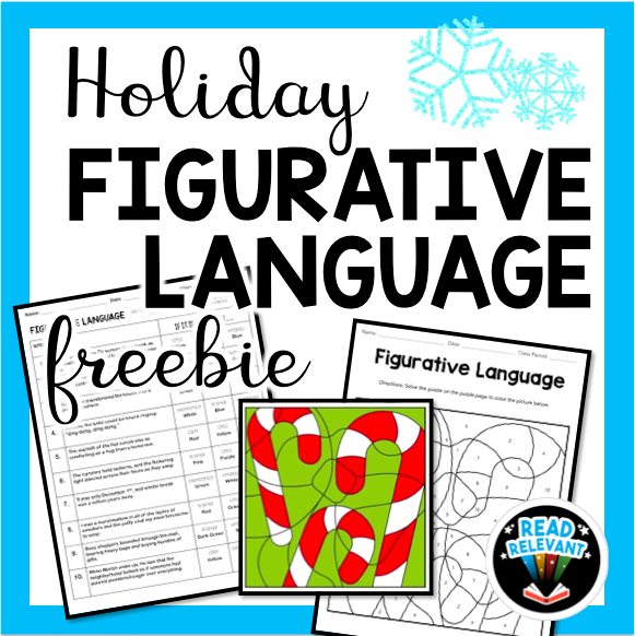 Free holiday color by number ELA download activity