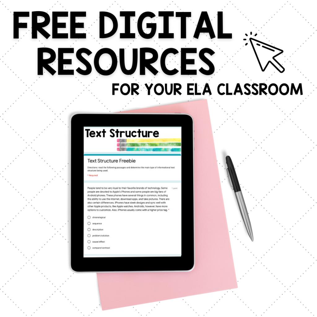 Free digital resources for ELA