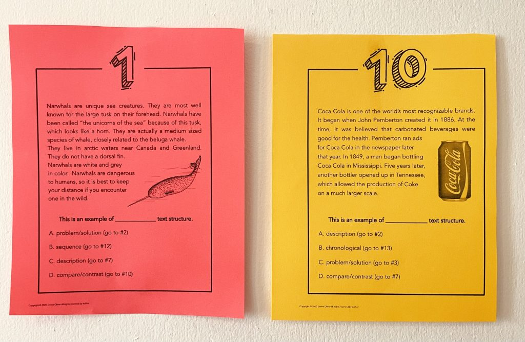 This scavenger hunt is a great way to practice text structure!