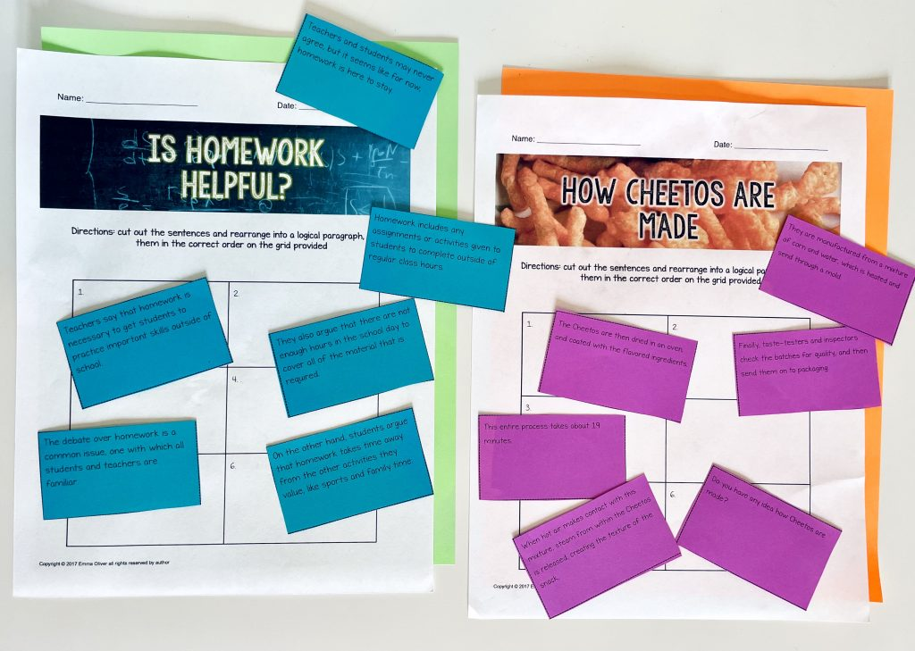 scrambled paragraph activities are some of my favorite screen free resources for ELA